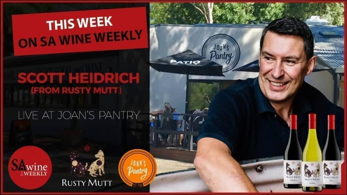 Scott Heidrich at Joans Pantry with SA Wine Weekly