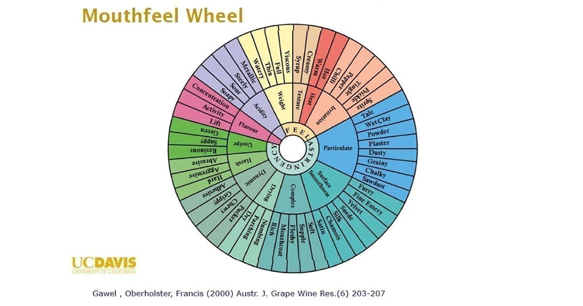 Wine mouthfeel wheel