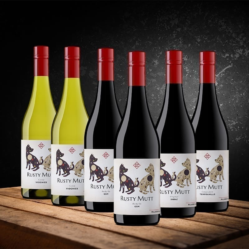 Rusty Mutt SA Wine Weekly Mixed wine pack